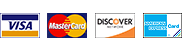 Visa, Mastercard, Discover Accepted